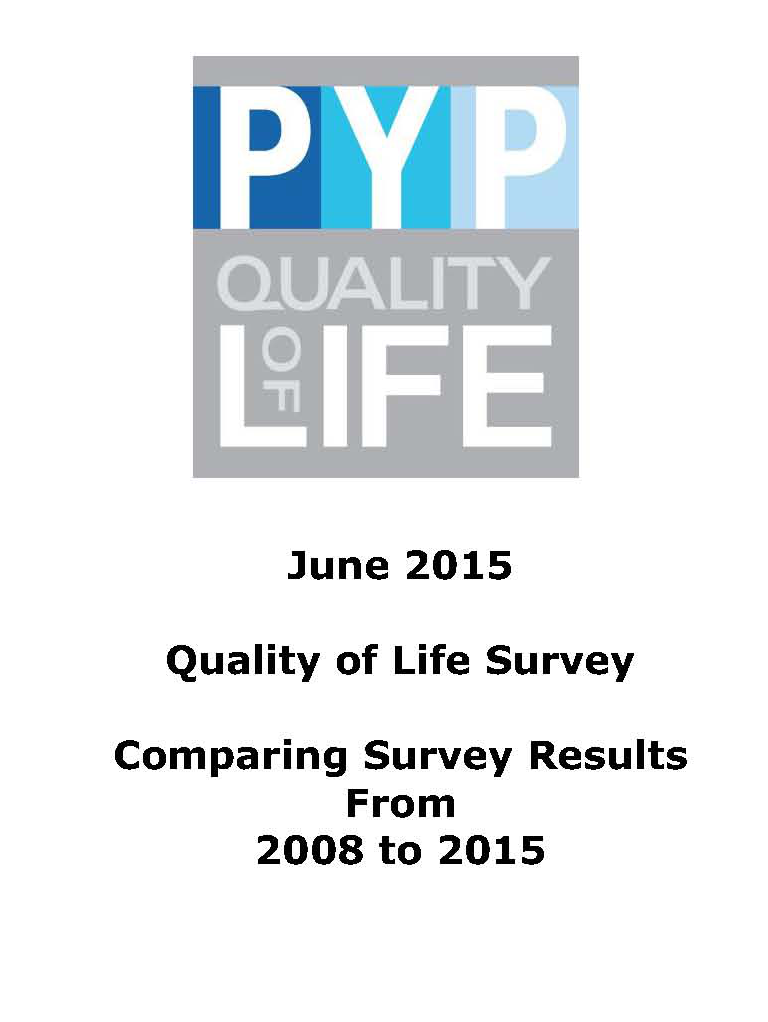 Quality of Life Survey results 2008 - 2015
